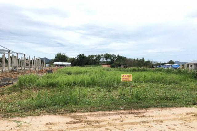 ขายที่ดินราคาถูก !!! (ทำเลทอง) อยู่ติดที่ดินโครงการกำลังสร้างหมู่บ้าน แยกหนองขอนใกล้หัวหิน
