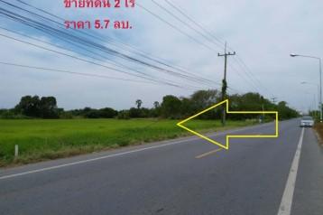 ขายที่ดินติดถนนลาดยาง คลอง10 ธัญบุรี-ลำลูกกา ราคาถูก 2 ไร่ ที่ดินสวยมาก