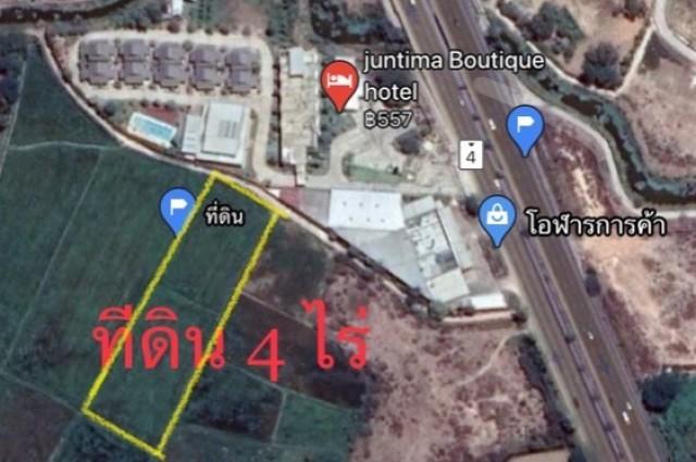 ขายที่ดินชะอำ ห่างถนนเพชรเกษม 100ม. โฉนด 4ไร่ ขาย6.8ล้านบาท