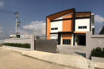 ขายหรือให้เช่า โรงงานสร้างใหม่ ออฟฟิศ2ชั้น ขนาด 1.5ไร่ พร้อมใบอนุญาติก่อสร้าง เมืองสมุทรสาคร