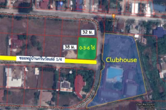 ขาย ที่ดิน กรีนวัลเล่ย์ บางนา 3 งาน 6 ตร.วา ติด Club House อากาศบริสุทธิ์ เหมาะสำหรับสร้างบ้านพักอาศัย.