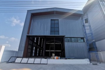 ขาย โกดัง รับสร้างโกดังสำเร็จรูป คลังสินค้า โรงงานสำเร็จรูป-40 ออกแบบประเมินราคาฟรี 384 ตรม. 1 ไร่